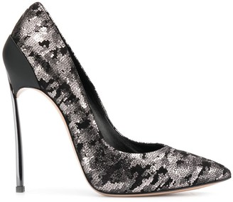 Casadei Metallic Stiletto Pumps