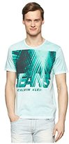 Calvin Klein Jeans Men's Shadow Palms Crew Neck Tee