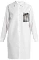 Christopher Kane Gingham-pocket cotton-poplin shirtdress