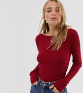 Urban Bliss fitted wrap back sweater