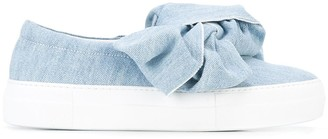 Joshua Sanders Denim Slip-On Bow Sneakers
