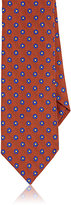 Barneys New York Men's Floral Wool-Silk Necktie-ORANGE
