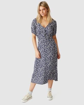 Cotton On Woven Clara Button-Through Midi Dress