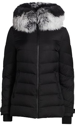 The Fur Salon Removable Fox Fur-Trim Hooded Down Jacket
