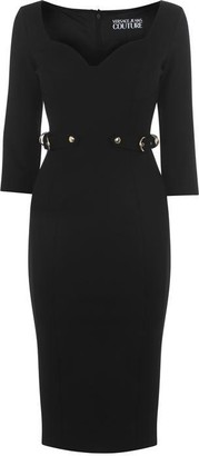 Versace Midi Buckled Belt Dress