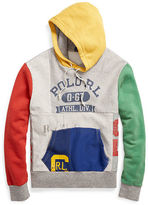 Polo Ralph Lauren Patchwork Cotton-Blend Hoodie
