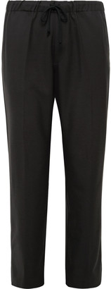 Dries Van Noten Wool-Twill Drawstring Trousers
