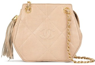 Chanel Pre-Owned quilted fringed shoulder bag