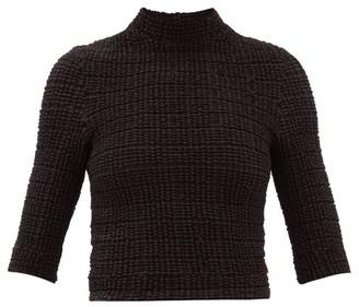 Cecilie Bahnsen Evelin Shirred Cotton-blend Top - Black