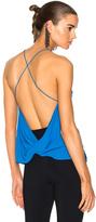 Dion Lee Silk Velvet Fine Line Cami Top in Blue.