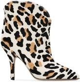 Paris Texas Leopard-Print Ankle Boots