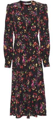 Veronica Beard Amber Floral-print Stretch-silk Crepe De Chine Midi Dress
