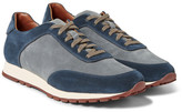 Loro Piana Weekend Walk Two-Tone Suede Sneakers