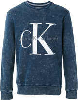 Calvin Klein Jeans logo sweatshirt - men - Cotton - XS