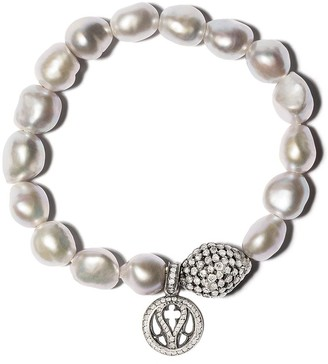 Loree Rodkin Pearl Charm Diamond Bracelet