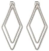 Women's Double Diamond Earring - Silver