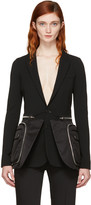 Givenchy Black Oversized Pocket Blazer