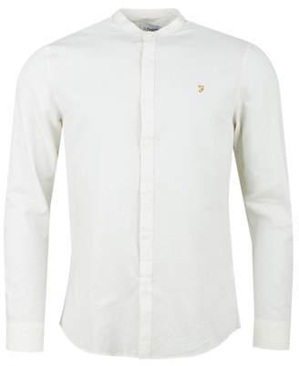 Farah Owens Slub Cotton Grandad Shirt Colour: ECRU, Size: SMALL