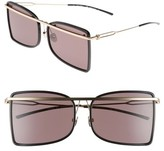 Calvin Klein Women's 60Mm Butterfly Sunglasses - Black