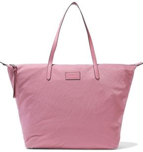 Rebecca Minkoff Leather-trimmed Washed-shell Tote