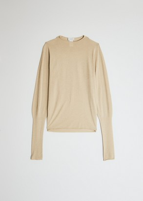 Lemaire Women's Lightweight Turtleneck in Beige, Size Extra Small