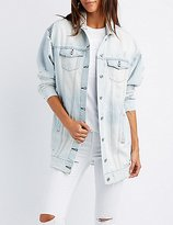 Charlotte Russe Oversize Destroyed Denim Jacket