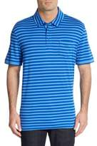 Saks Fifth Avenue BLACK Slim-Fit Striped Pima Cotton Polo Shirt