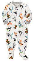 Carter's Ski Animal Fleece Sleep & Play - Boys 2t-5t