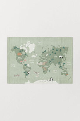 H&M World Map Cotton Rug