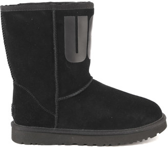 UGG Classic Short Black Suede Boot