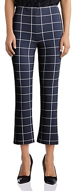 Bailey 44 Jessie Window-Pane Print Pants