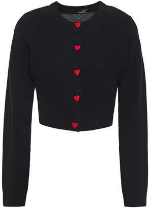 Love Moschino Button-detailed Wool And Cashmere-blend Cardigan