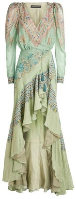 Etro Paisley Wrap Dress