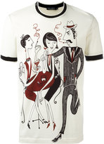 Dolce & Gabbana jazz club print T-shirt - men - Cotton - 48