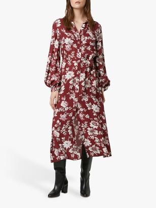 French Connection Aletta Shirt Dress, Rhubarb/Multi