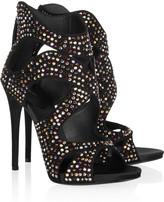 Giuseppe Zanotti Swarovski crystal-embellished suede sandals
