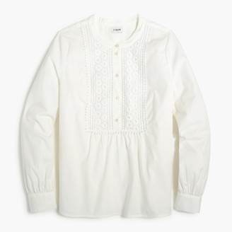 J.Crew Shirt with embroidered lace bib