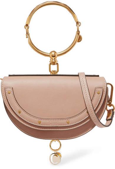 Chloé Nile Bracelet Mini Textured-leather Shoulder Bag - Beige