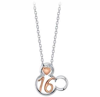 Disney Mickey Mouse Icon ''16'' Pendant Necklace