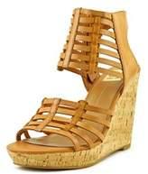 Dolce Vita Tila Women Open Toe Leather Tan Wedge Sandal.