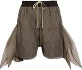 Rick Owens Oversized flared mesh shorts