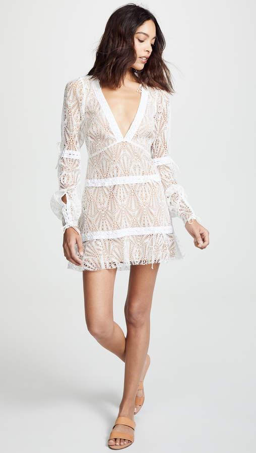 For Love & Lemons Bright Lights Long Sleeve Mini Dress