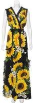 Dolce & Gabbana Spring 2017 Sunflower Print Dress