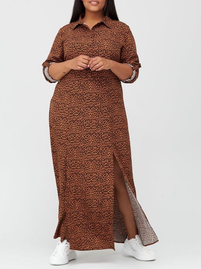 AX Paris Curve Maxi Shirt Dress - Print
