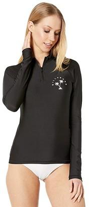 Billabong Sol Searcher Long Sleeve Rashguard (Pebble Black) Women's Swimwear