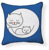 Little Kitty Throw Pillow Naked Decor