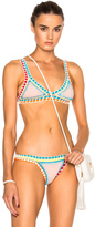 Kiini Luna Bikini Top in Pink,Blue,Abstract.