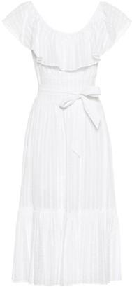 Tory Burch Frilled cotton midi dress