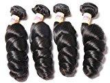 Connie Hair Brazilian Hair Loose Wave 3 Bundles 16 18 20 22inch Grade 7A Unprocessed Brazilian Virgin Human Hair Bundles Natural Black Color