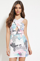 Forever 21 FOREVER 21+ Paint It Red Floral Dress
